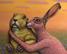 Prairie Dog and Rabbit Couple