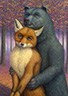Fox and Bear Couple