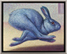 Rabbit Running Blue